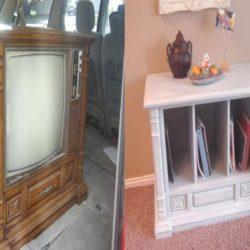 Направи си сам мебел за всекидневната от...стар телевизор