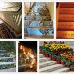 Как да украсим стъпалата у дома и стълбите навън?