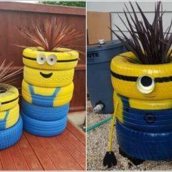 Декорация от гуми стари направи си сам