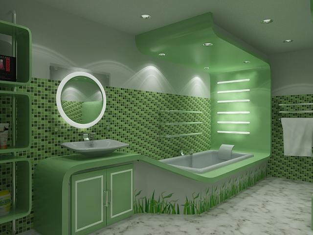 green bathroom 17
