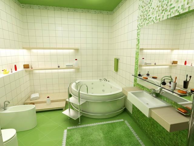 green bathroom 18