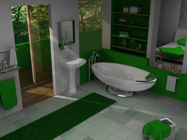 green bathroom 7