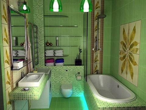 green bathroom 8