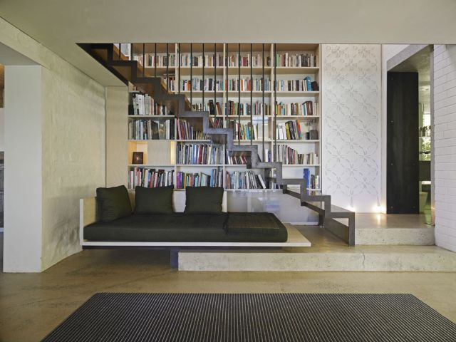 Contemporary House Design Great Home Library Design Pictures Floating Staircase