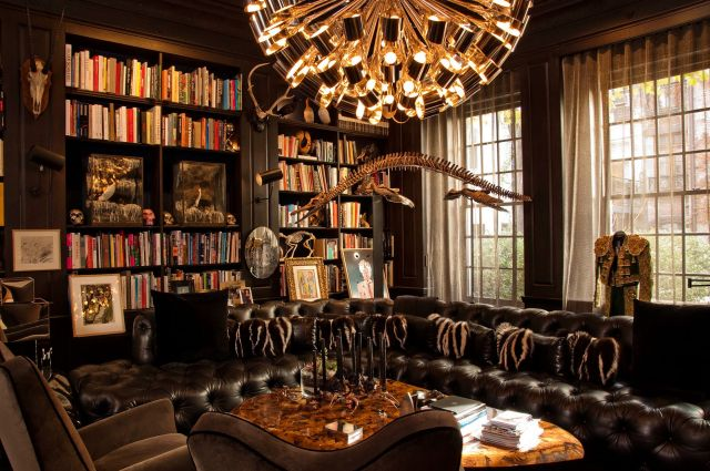 Fantastic Home Library Design Pictures Luxury Chandelier Dinosaur Bone