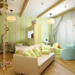 Всекидневна и детска стая в едно помещение (Идеи и възможности)