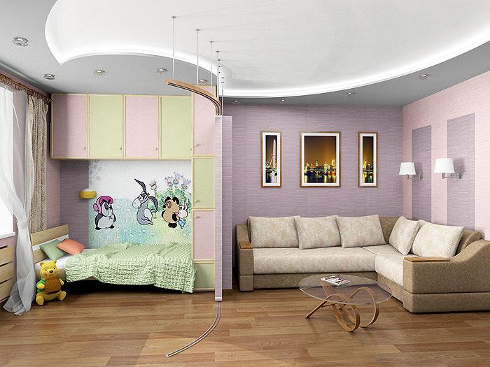 Разделение с гипсокартон и ефекта на тавана
