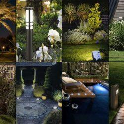 Романтично осветление за градина и направи си сам идеи