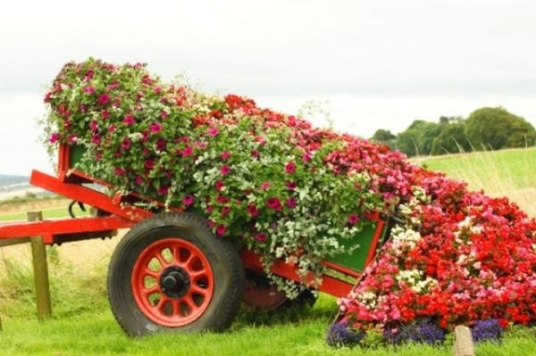 Цветен ручай за декорация на градина