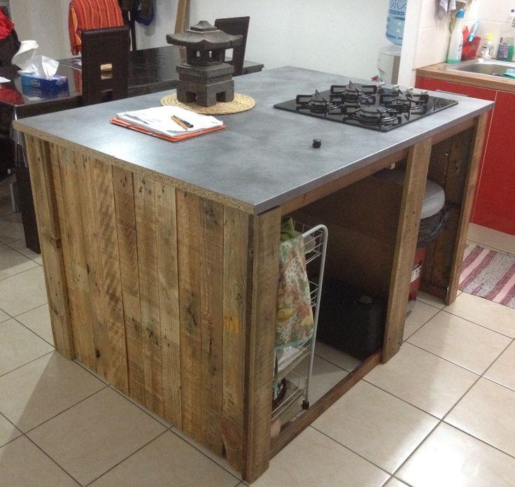 Kuhnya ot paleti ostrov 3 - Table de cuisine en palette ...