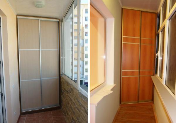 Шкафы купе на балкон и для лоджий на заказ угловые- фото 1