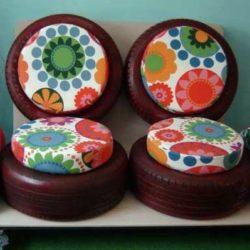 Направи си сам: Мебели от стари гуми за градина и не само