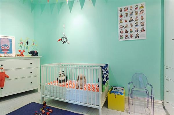 Детска стая тюркоаз