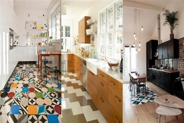 Плочки за под на кухня идеи