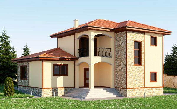 Стършанов архитекти проект за къща Милена село Белащица