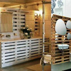 Как се прави баня от палети