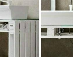 Мебели за баня от палети