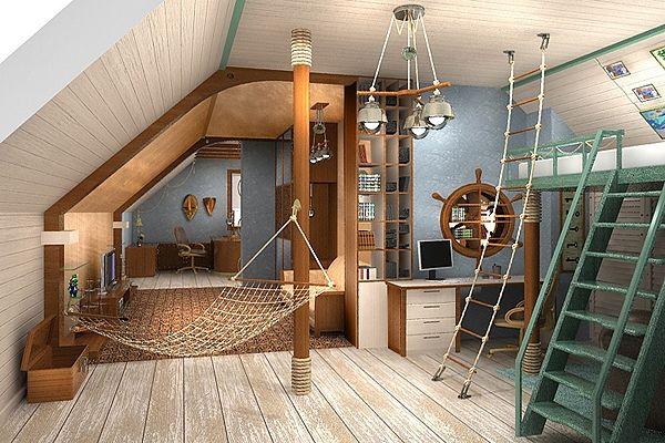 Идеи за обзавеждане на мансарда таванска стая