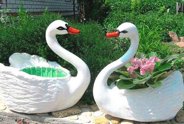 Направи си сам фигури за градина лебеди