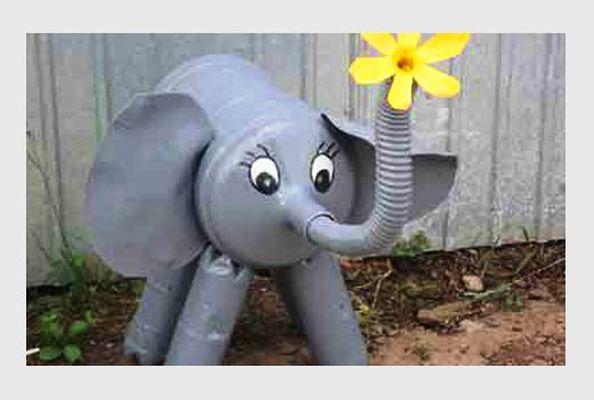 Направи си сам слон фигурка за градина