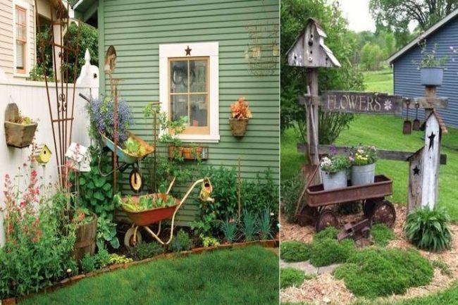 Селски двор декор