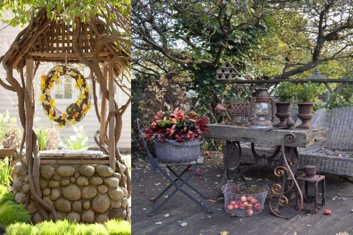 Идеи за селски двор декор