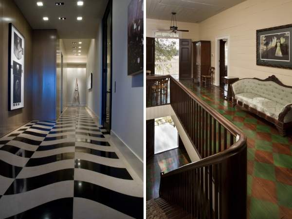 Дизайн на коридора на втория етаж