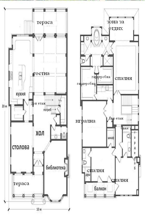 Проект за голям втори етаж