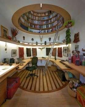 Идеи за мансарда библиотека
