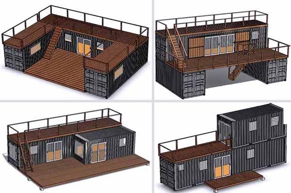 Проекти за Къщи от контейнери - контейнери за живеене проекти, съвети, обзавеждане