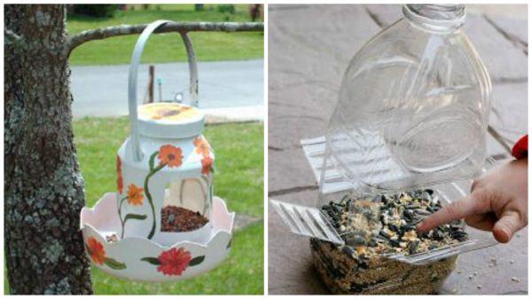 Хранилки за птици от пластмасово шише
