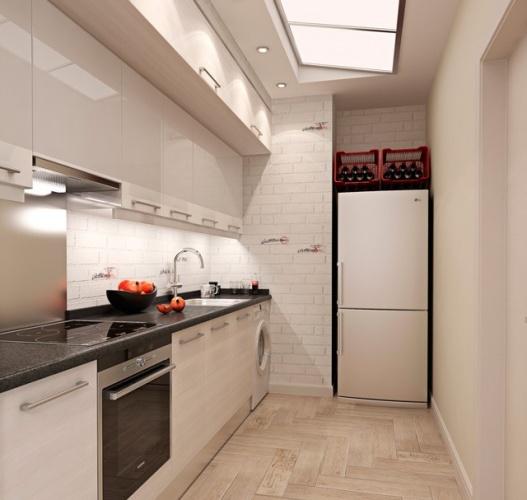 Кухня без прозорец идеи