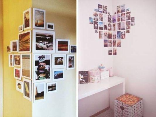 Как да подредим красиво и оригинално снимките по стената?
