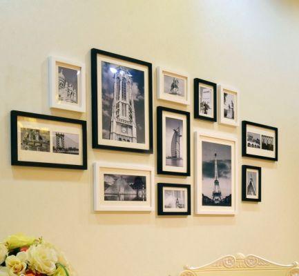 Как да подредим снимките в интериора: Схеми и съвети