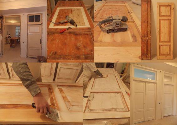 Как се прави ремонт и реставриране на стари врати идеи