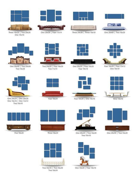Как да подредим снимките на стените според обзавеждането