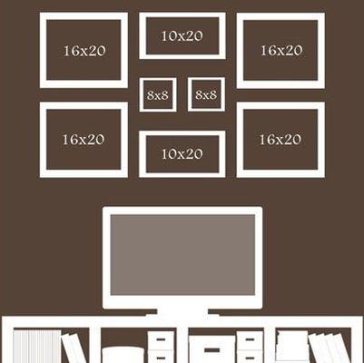 Схеми за подреждане на снимки в интериора