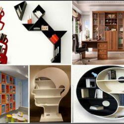 Идеи за модерна библиотека - оригинални дизайнерски шкафове за книги