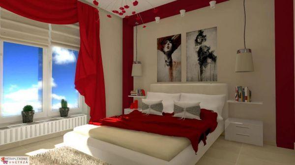 Романтична червена спалня идеи