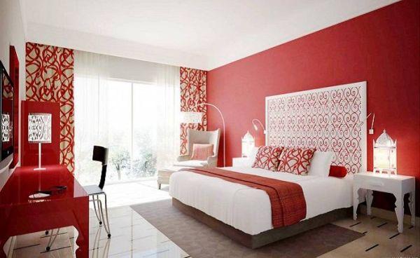 Луксозна червена спалня