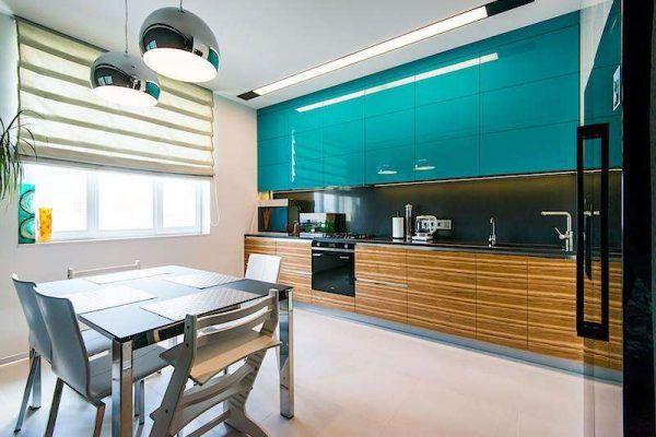 Кухня в тюркоаз или тюркоазена кухня идеи
