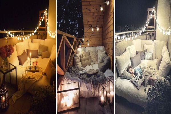 Идеи за спалня на балкона