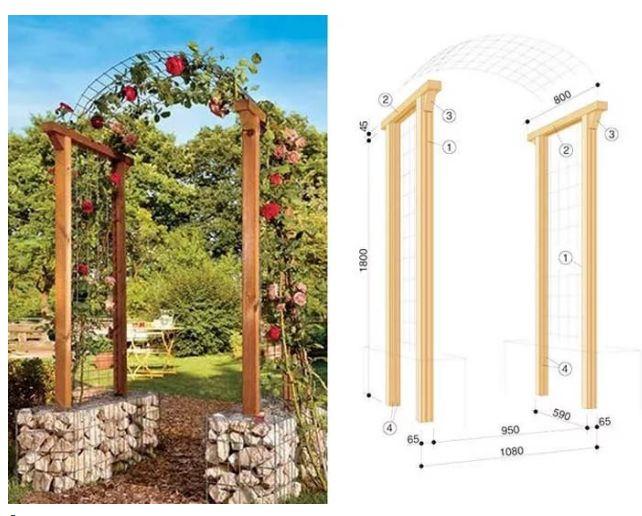 Направи си сам дървени арки за цветя