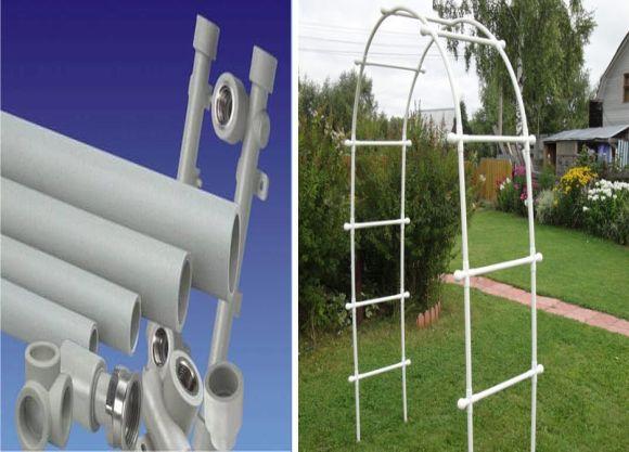 Направи си сам PVC арка за градината