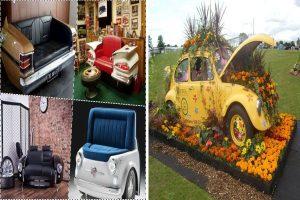 Направи си сам: Цветарници или мебели от стари коли