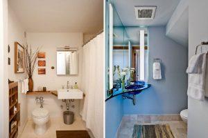 Дизайн на наистина малки бани: 5 прости съвета и 20 невероятни примера