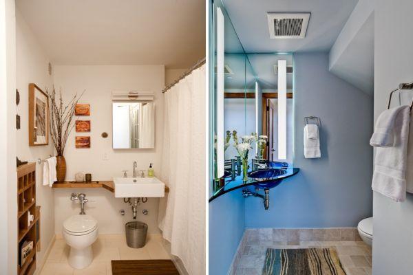 Идеи за малки бани