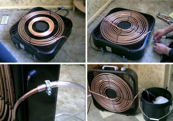 Климатик с вентилатор и медни тръби