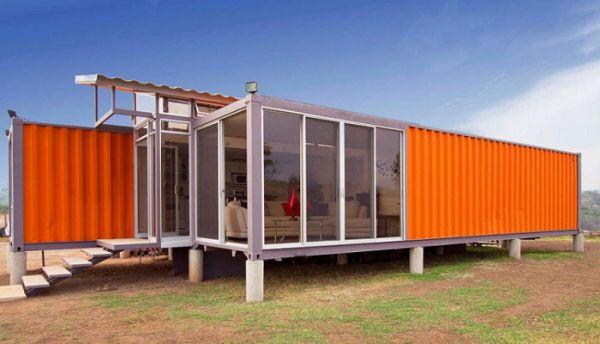Идеи за къща от контейнери с басейн