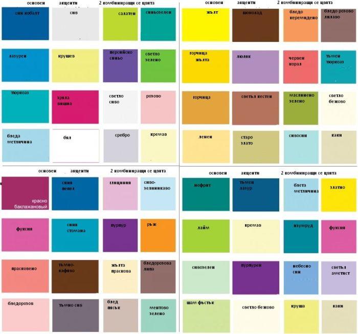 Съчетание на цветовете в интериора
